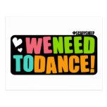 Necesitamos bailar tarjetas postales