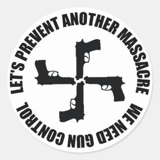 Necesitamos el control de armas pegatina redonda
