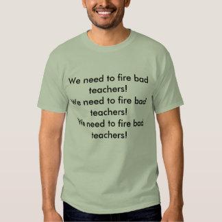 ¡Necesitamos encender a malos profesores! Polera