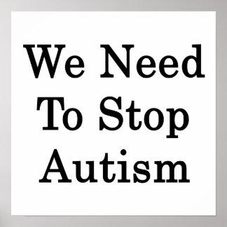 Necesitamos parar autismo posters