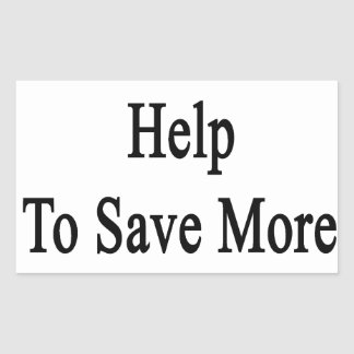Necesitamos su ayuda ahorrar más jirafas pegatina rectangular