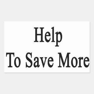 Necesitamos su ayuda ahorrar más tortugas pegatina rectangular