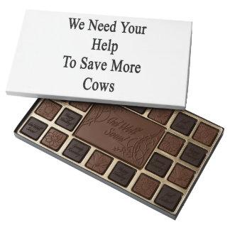 Necesitamos su ayuda ahorrar más vacas caja de bombones variados con 45 piezas
