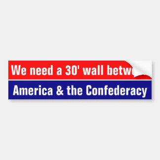 Necesitamos una pared entre América y el Pegatina Para Auto