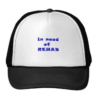 Necesitando la rehabilitación gorros bordados