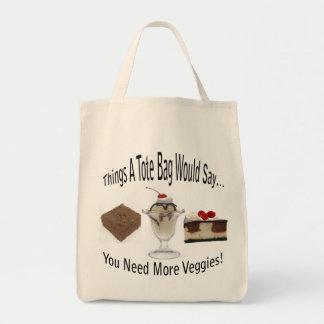 Necesite la más bolsa de asas de los Veggies