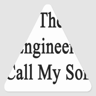 Necesite la mejor llamada del ingeniero mi hijo pegatina triangular
