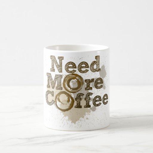 Necesite más café tazas
