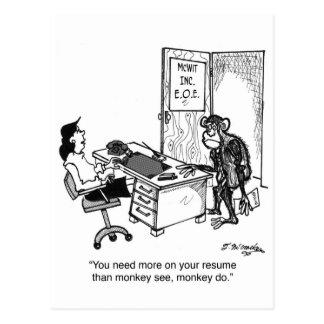 Necesite más que el mono ve en un curriculum vitae postales