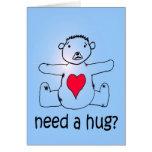 ¿Necesite un abrazo? Felicitaciones