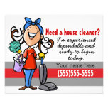 ¿Necesite un Housecleaner? Aviador de encargo del
