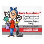 ¿Necesite un Housecleaner? Aviador de encargo del  Tarjetones