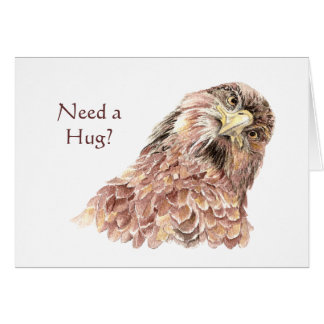 Necesite un pájaro tonto del abrazo hacer que uste tarjeta de felicitación