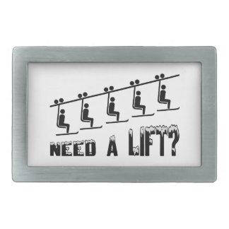 Necesite un remonte hebilla cinturon rectangular