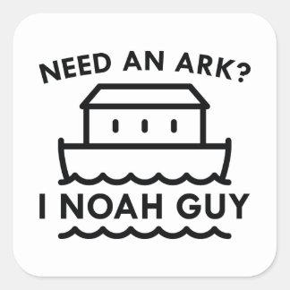 ¿Necesite una arca? I individuo de Noah Pegatina Cuadrada