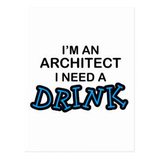 Necesite una bebida - arquitecto postal