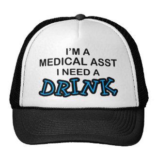 Necesite una bebida - Asst médico Gorros Bordados