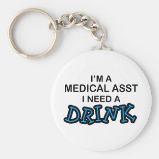 Necesite una bebida - Asst médico Llavero Redondo Tipo Pin