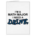 Necesite una bebida - comandante de matemáticas felicitación