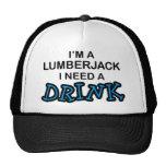 Necesite una bebida - leñador gorros bordados