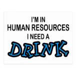 Necesite una bebida - recursos humanos postal