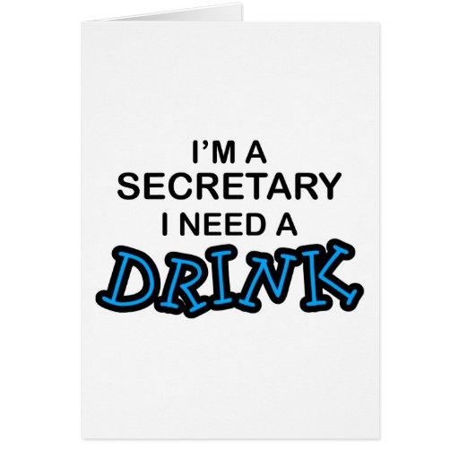 Necesite una bebida - secretaria felicitaciones