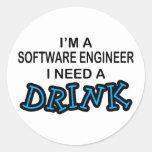 Necesite una bebida - Software Engineer Pegatinas