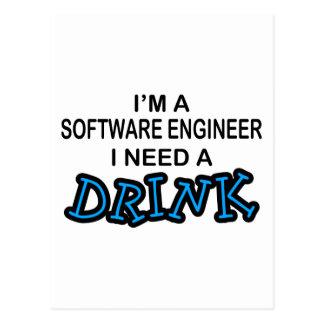 Necesite una bebida - Software Engineer Tarjeta Postal