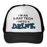 Necesite una bebida - tecnología de la radiografía gorro