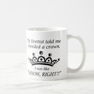 Necesité una corona taza clásica