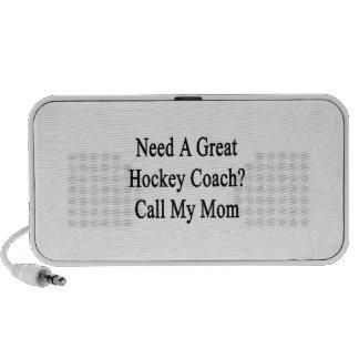 Necesite una gran llamada del coche de hockey mi laptop altavoz