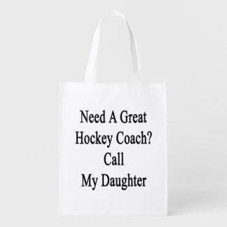 Necesite una gran llamada del coche de hockey mi bolsa reutilizable