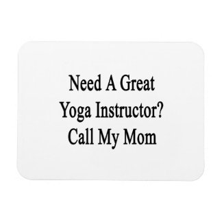 Necesite una gran llamada del instructor de la imán rectangular