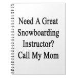 Necesite una gran llamada del instructor de la cuadernos