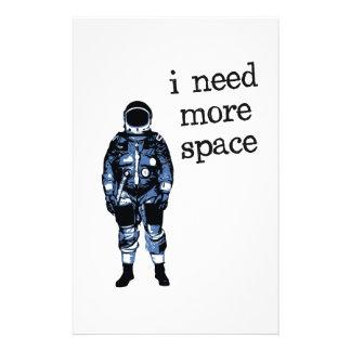 Necesito a más astronauta del espacio papelería de diseño