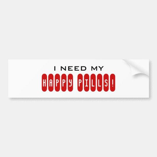 Necesito a mi pegatina para el parachoques FELIZ d Pegatina Para Auto