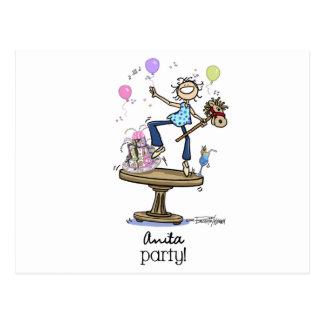 ¡Necesito a un fiesta! Postal