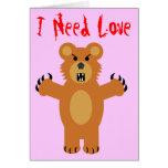 Necesito amor tarjetas