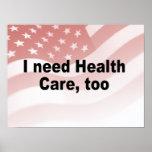 Necesito atención sanitaria, también posters