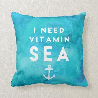 Necesito cita de la acuarela del trullo del mar de cojín