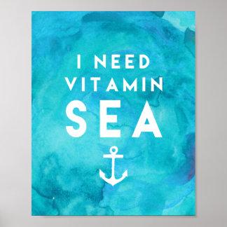Necesito cita de la acuarela del trullo del mar de póster