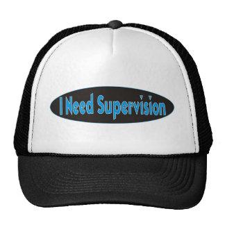 Necesito diseño de la supervisión gorras de camionero