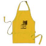 ¡Necesito el café! Delantal