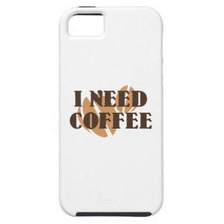 Necesito el café iPhone 5 Case-Mate cárcasas