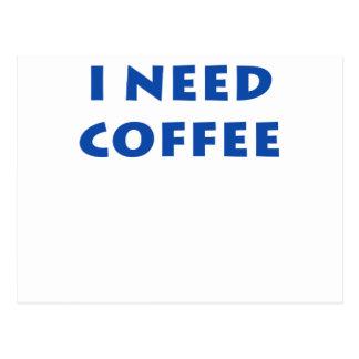 Necesito el café postal