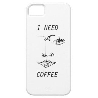 Necesito el caso del iPhone del café iPhone 5 Funda