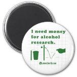 Necesito el dinero para la investigación del alcoh imán para frigorifico