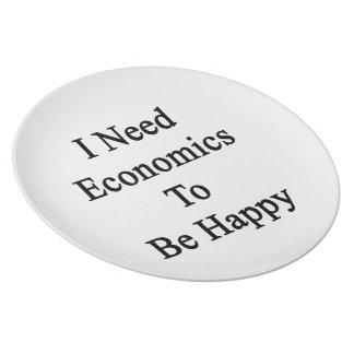 Necesito la economía ser feliz platos de comidas