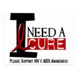 NECESITO las camisetas de la CURACIÓN 1 de un VIH  Tarjeta Postal