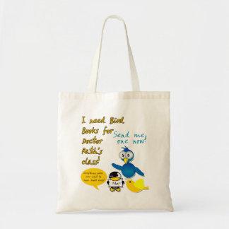 """""""Necesito los libros del pájaro para la bolsa de a"""
